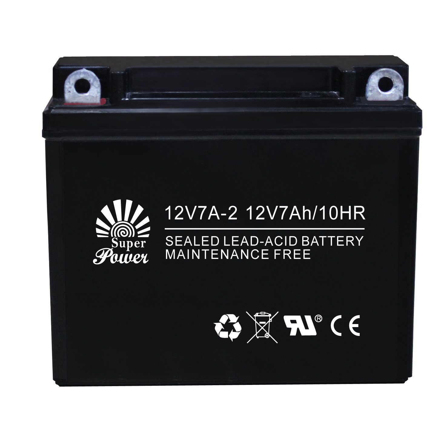 Sealed Maintenance Free Motorcycle Battery 12V7A-2