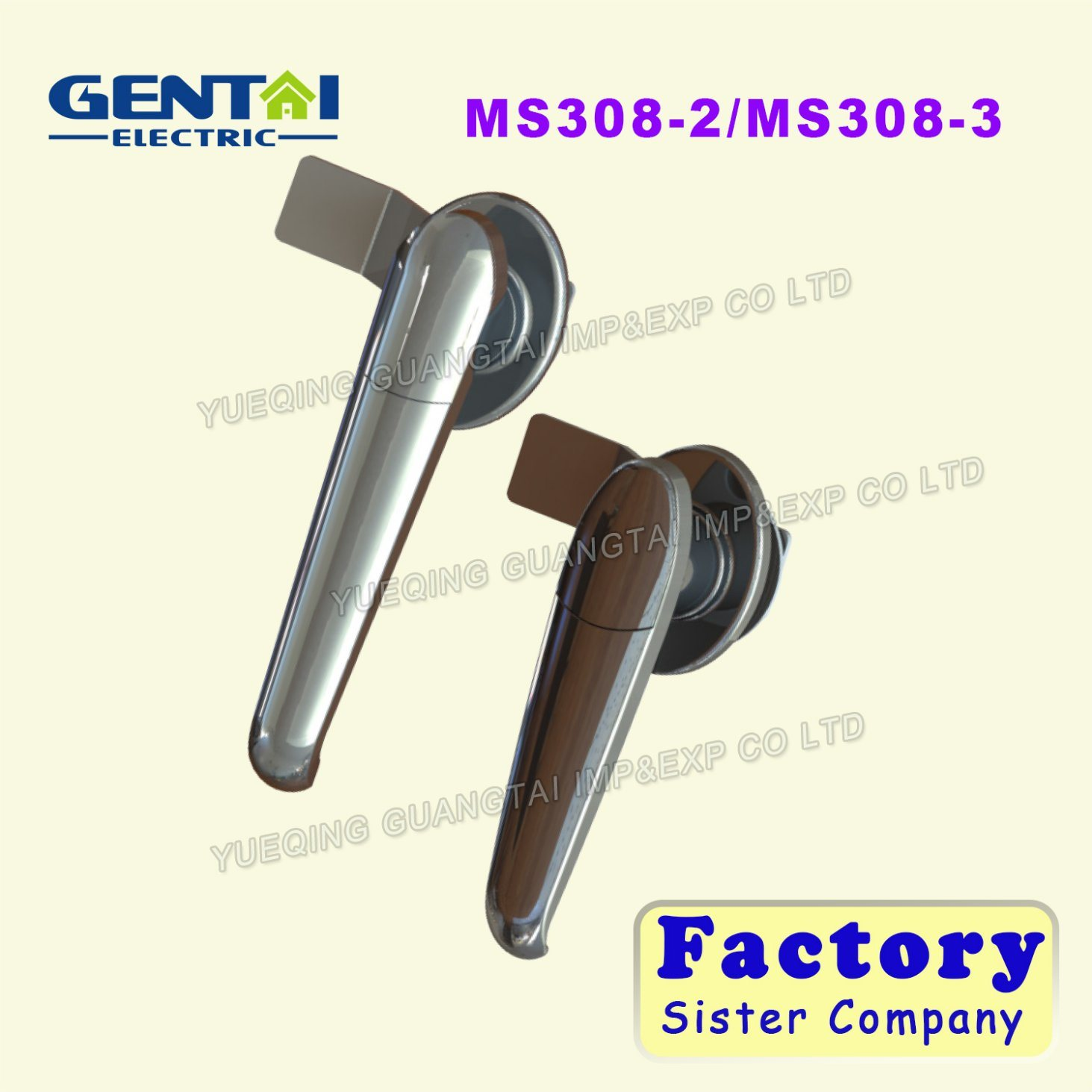 Competitive Aluminum Iron Plate Door Handle Lock