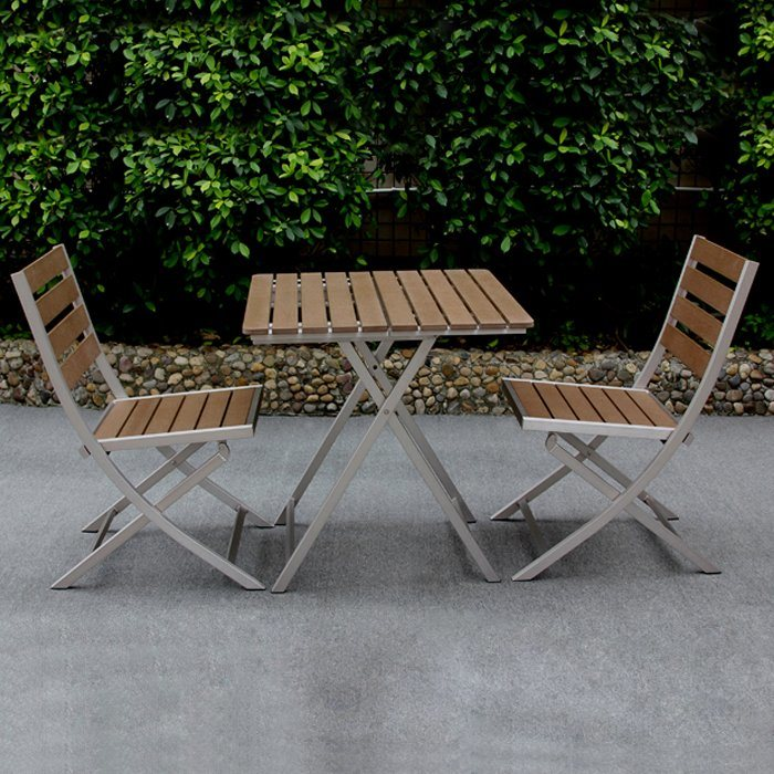 China Aluminum Chair Table Set, Folding Patio Furniture Set
