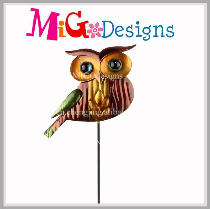 Outdoor Metal Garden OEM Harvest Owl Stake Garden Accessories
