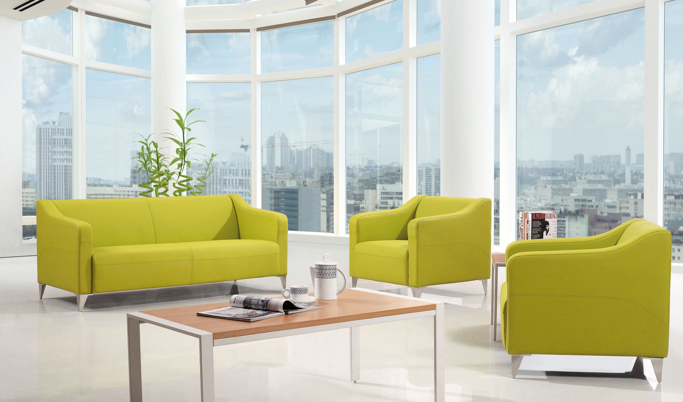 Office Reception Sofas Leather