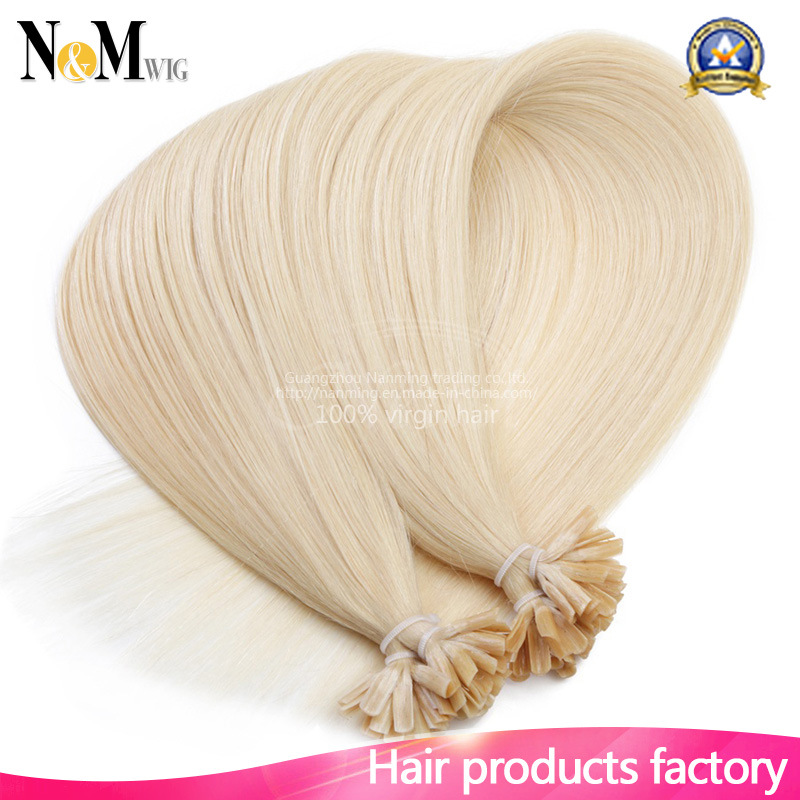 China Remy Fusion Hair Extensions Natural Keratin Capsule Pre Bonded