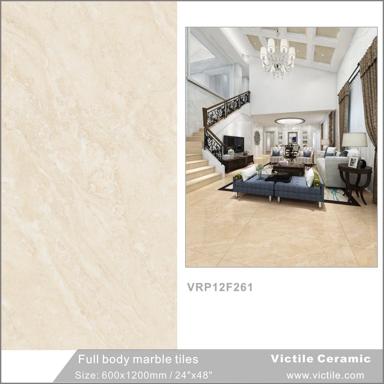 China Carrara White Full Body Non Slip Glazed Porcelain Floor Tile