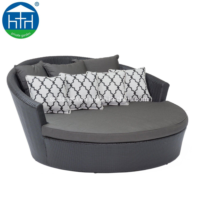 - China Leisure Outdoor Garden Furniture PE Rattan Round Daybed