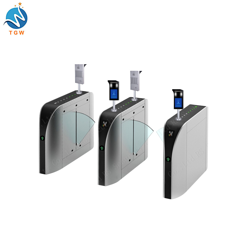 Bio-Metric Time Attendance Flap Barrier Flap Gate Barrier Turnstile Gate for Access Control