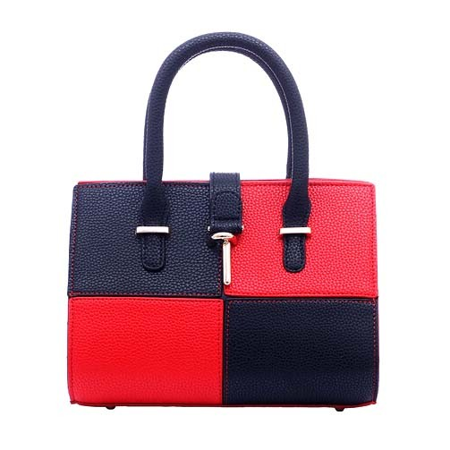 Wholeasle Splice Fashion PU Leather Bag Simple Designer Handbag (XP1819)