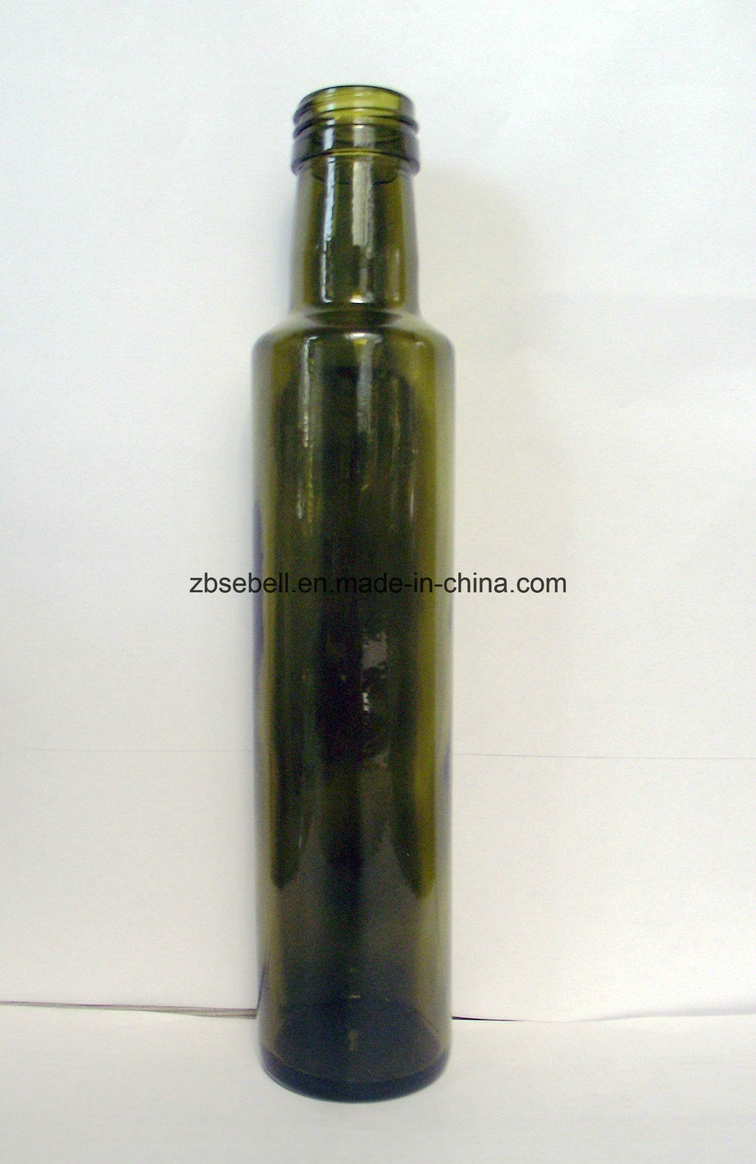 250ml Dark Green Dorica Glass Olive Oil Bottle