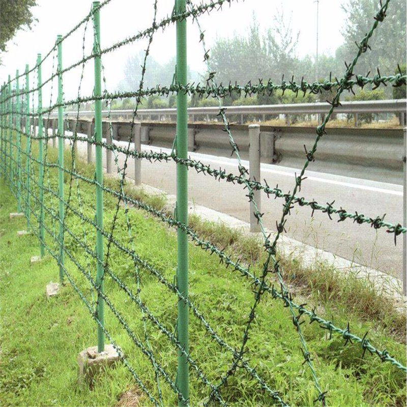 China PVC Coated Barbed Wire Mesh (single, double, three twist type ...