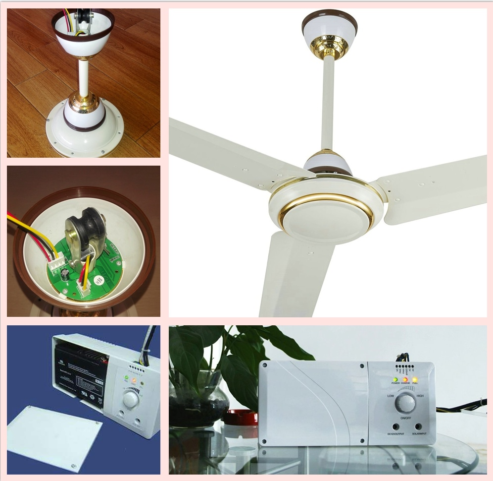 China 10 Years Life Solar Rechargeable 220v Ac Input Ceiling Fan With Bldc Motor Dc