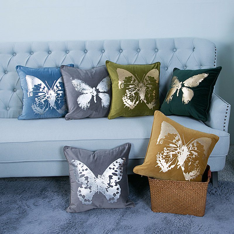 Foil/Gold&Silver Printed Decorative Cushion/Pillow (MX-54)