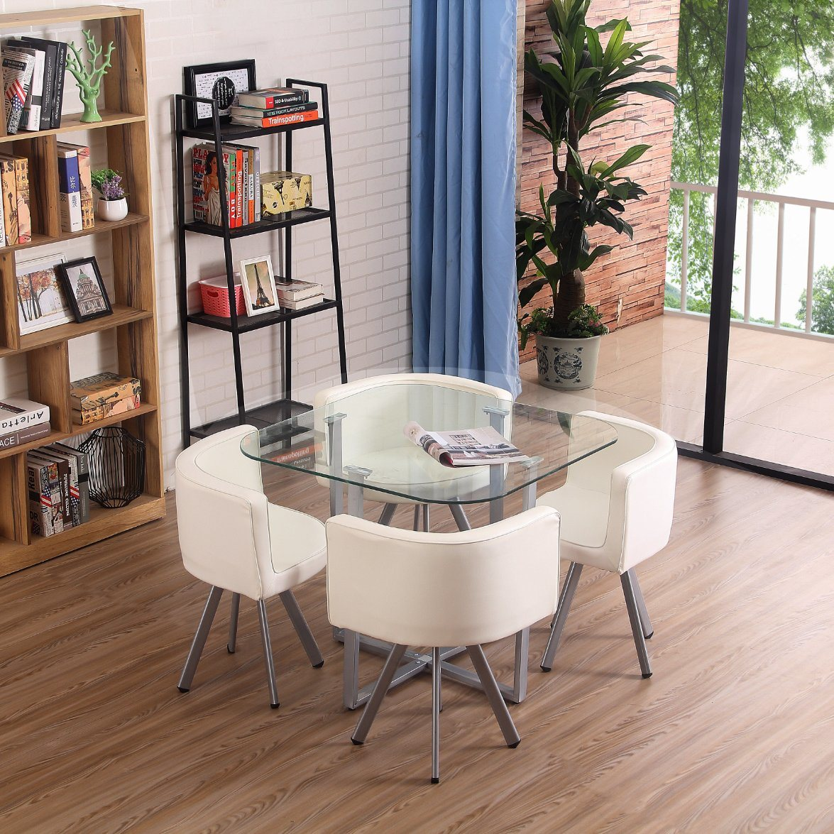 China Modern Dining Table And Chairs Kitchen Dining Room Table Set With Wood Legs High Quality Style Glass Dinning Room Furniture China Dining Room Furniture Modern Dining Table