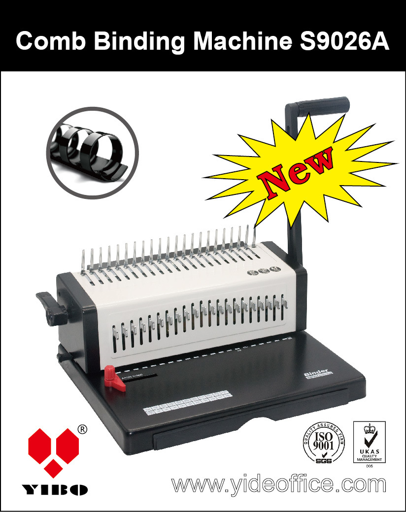 Steel A4 Size Book Comb Binding Machine (S9026A)