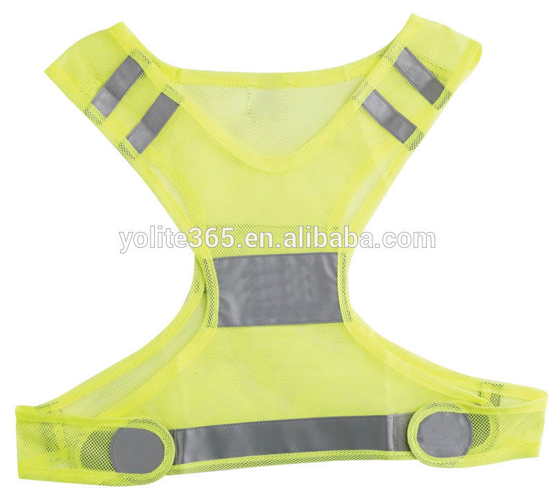 Fluorescent Fabric for Reflective Vest, White Safety Reflective Vest