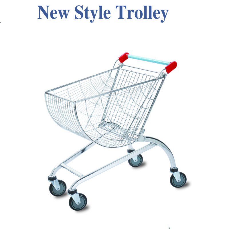Chrome Steel Supermarket Wire Shopping Trolleys Cart pictures & photos
