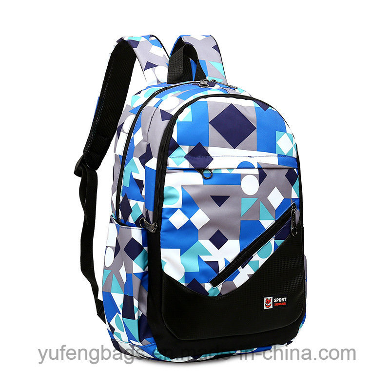 374a360a043c [Hot Item] Waterproof Nylon Bag Multi-Function Leisure Students Backpack  Printed Multipurpose Shoulders Travel Bags Yf-Lb1701