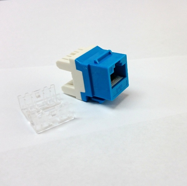 CAT6 Female RJ45 Ethernet Gigabit Keystone Jack Coupler- Blue pictures & photos