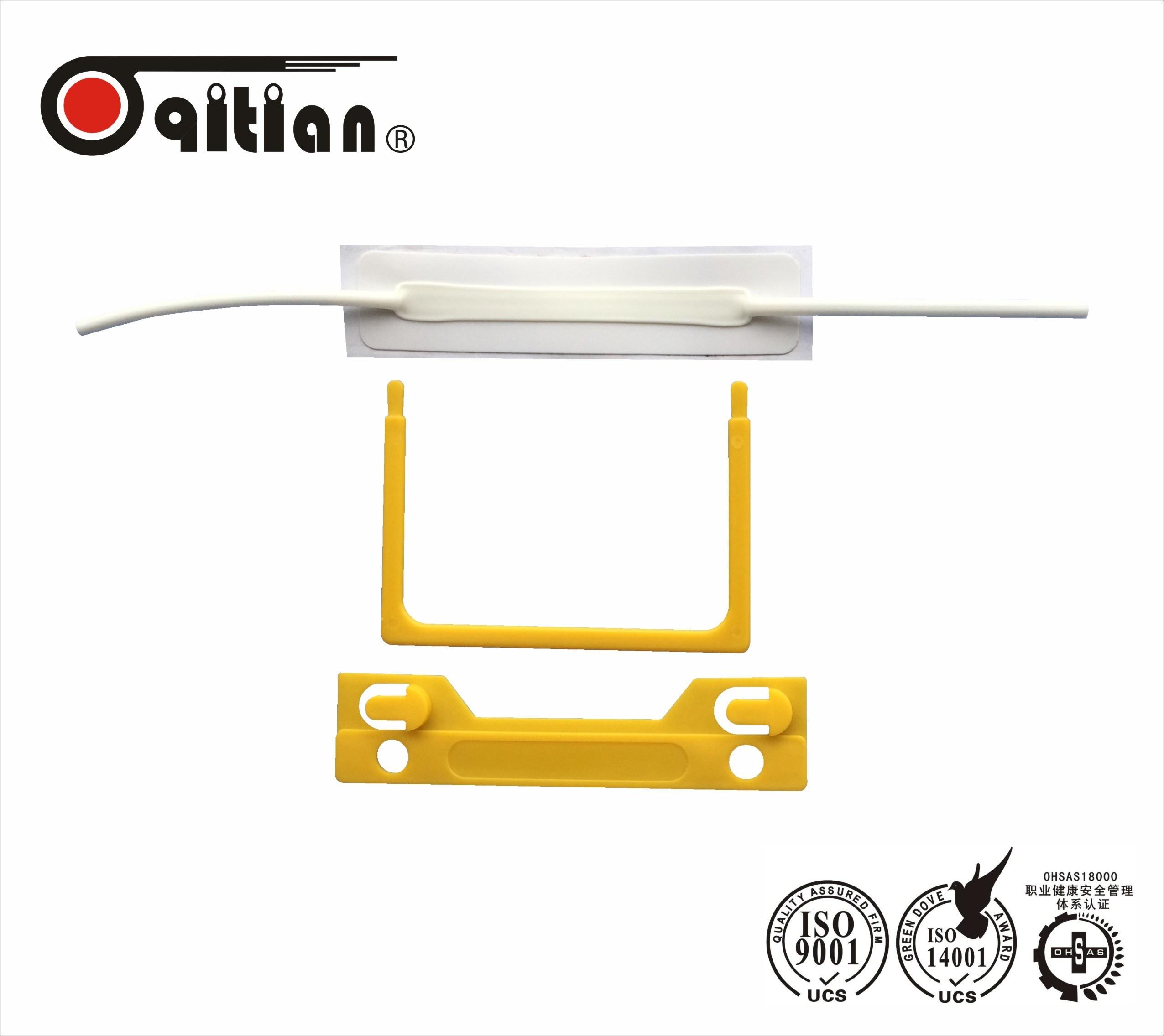 China Adhesive Plastic U Clip Paper Fastener Stationery