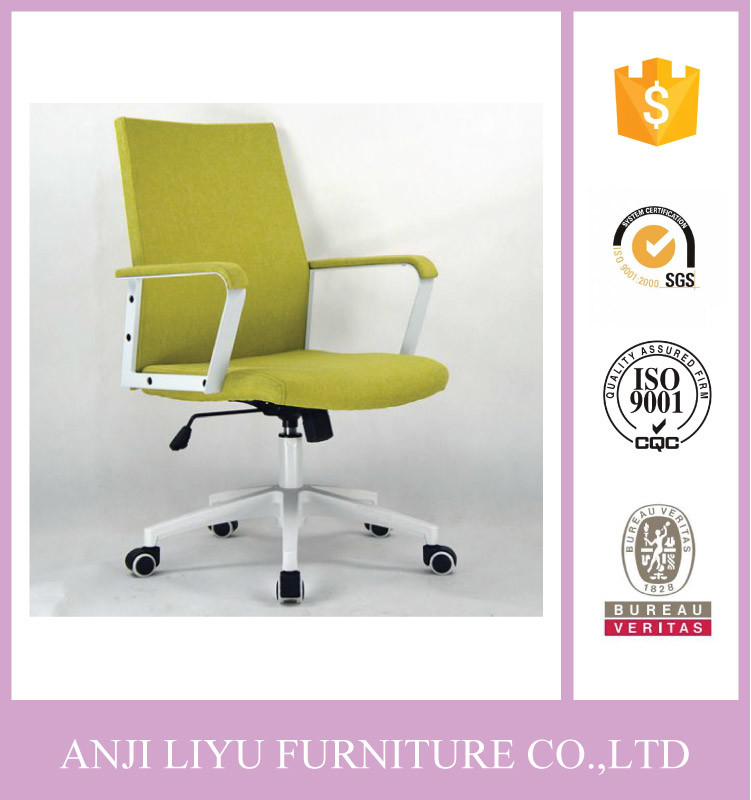 China Modern Design Desk Chair Fabric Office With Powder Coating Metal Armrest Swivel