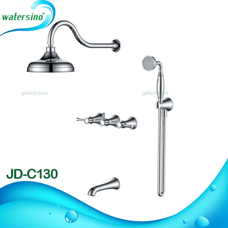 Cupc Ce Certified Modern Chrome Sleek 2 Way Rainfall and Hand Shower Suite pictures & photos