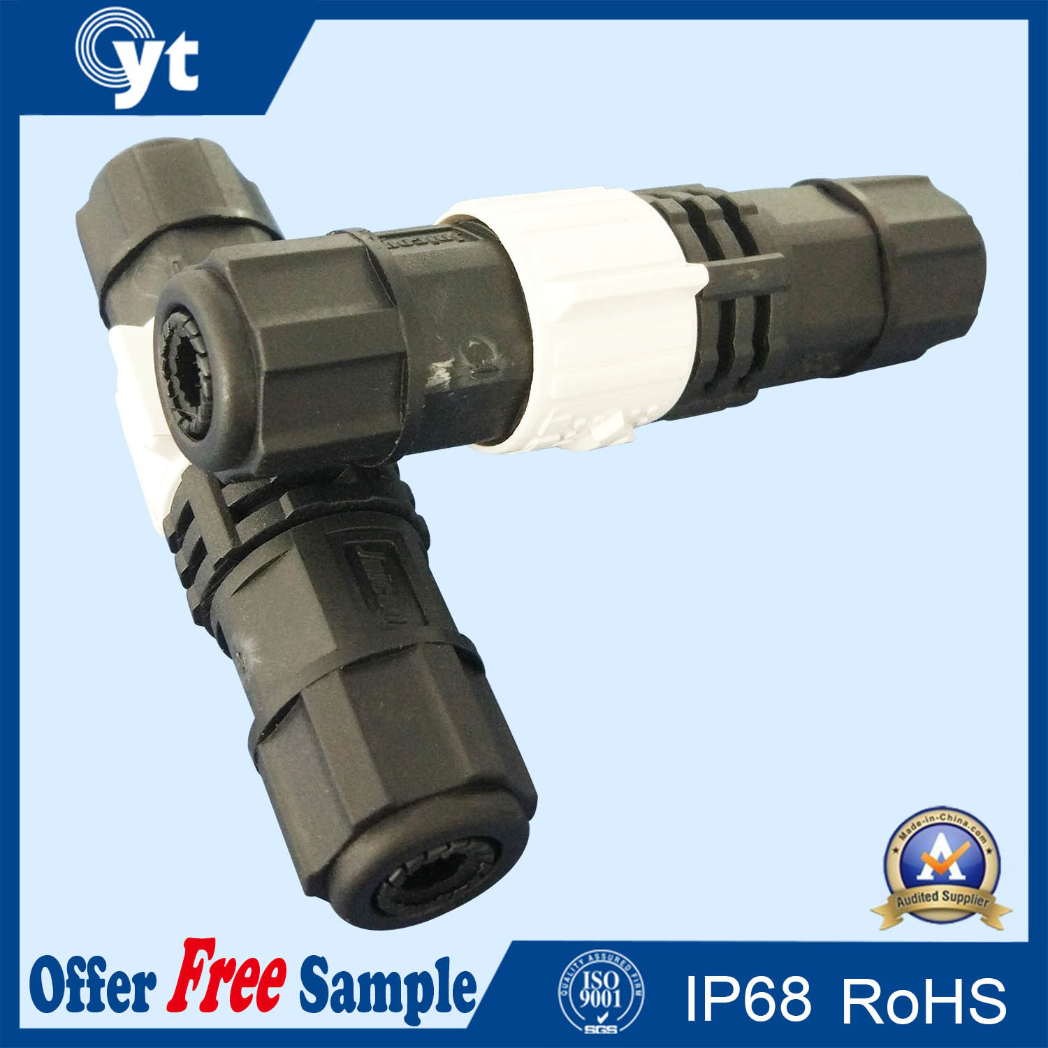 Underwater M8 M12 LED Power IP68 Waterproof Connector