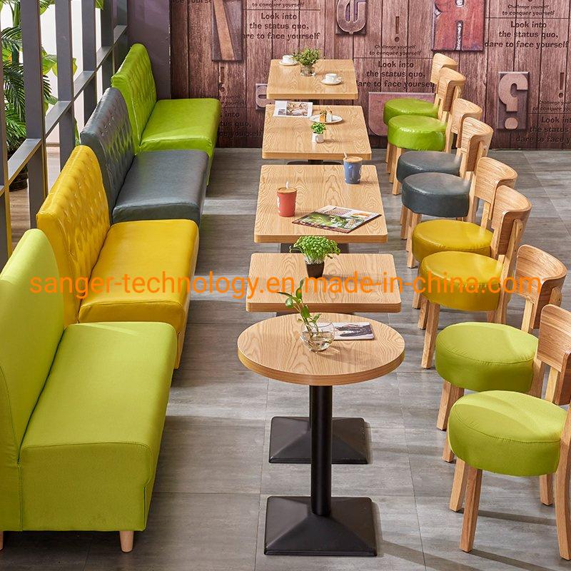 Hot Item Stool Coffee Bar Wood Chairs Wooden Western Restaurant Furniture Milk Tea Desk Tables
