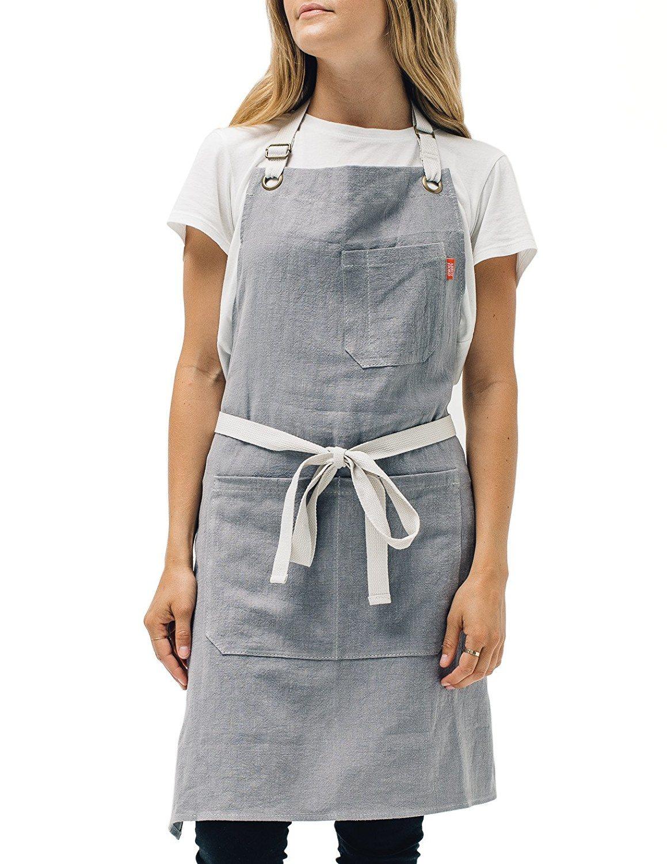 Hot Item Oem Kitchen Apron Mens And Womens Linen Bib Apron