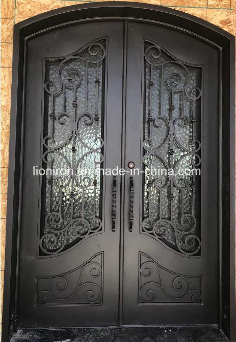 China Standard America Arts Iron Entry Double Door 72x96 Photos