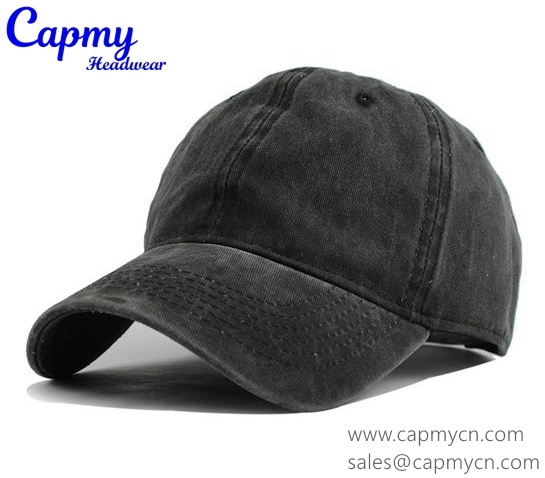 China Custom Material Black Denim Dad Hat Cap Supplier - China Hat ... e167bbecaec