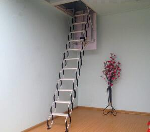 China Steel Automatic Electric Telescopic Loft Ladders Hydraulic Folding Attic Stairs China Loft Ladder Attic Stairs