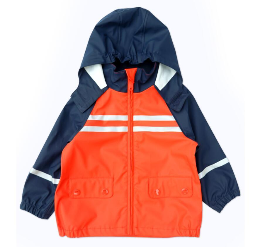 excellent quality great deals up-to-date styling [Hot Item] Polyurethane Kids Raincoat Safety Waterproof Rain Jacket