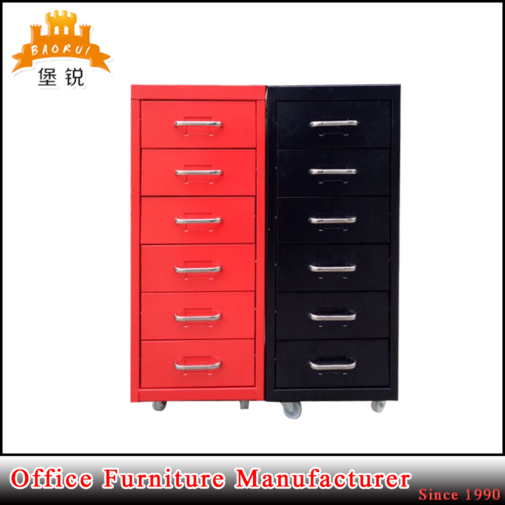 Hot Item Jas 117 Luoyang Factory Helmer 6 Drawer Movable Cabinet Storage