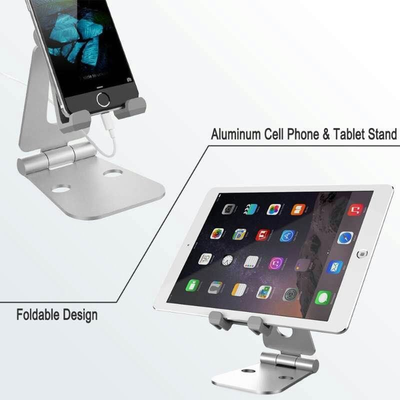 2017 Universal Whole Aluminum Alloy Foldable Desk Holder Metal Tablet Cell Phone Stand