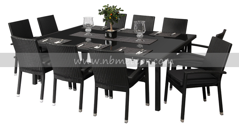 Mtc 085 10 Seater Rattan Dining Table
