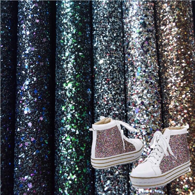China Wholesale Glitter PU Leather