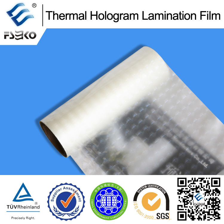 Holographic Thermal Laminating Film for Cosmetic Box (38mic BH-5) pictures & photos