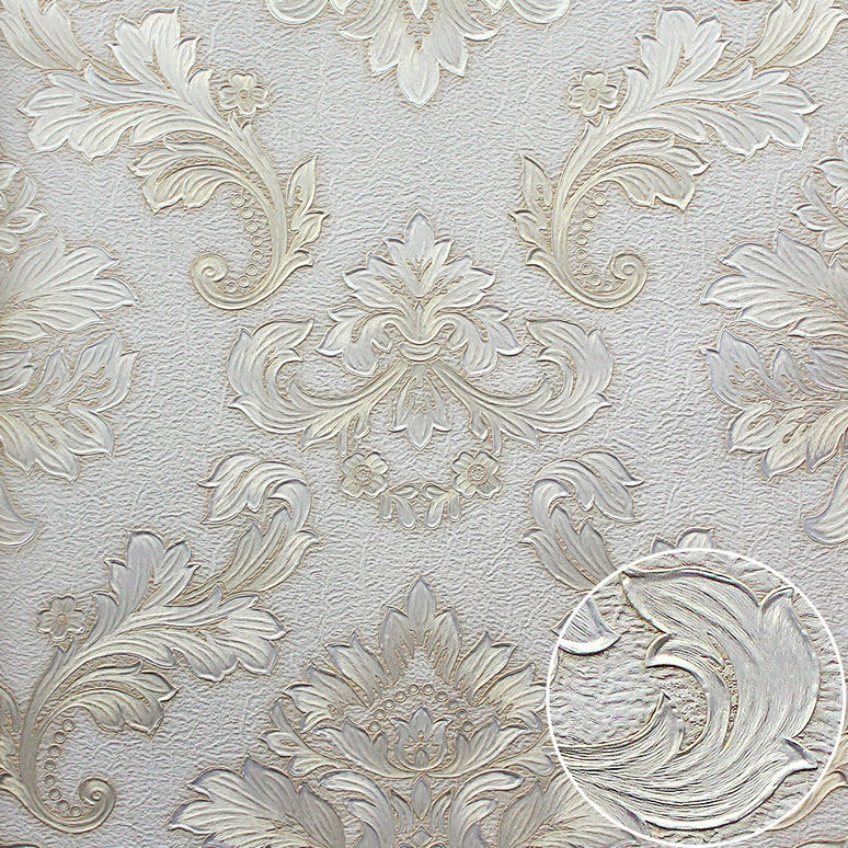 China Damask Designer Deep Embossed Wallpaper for Home Photos ...