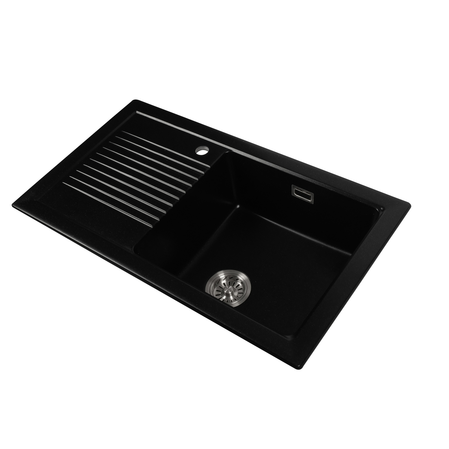China Jm303 Stone Kitchen Sink With Drainboard To Place Wine Cup