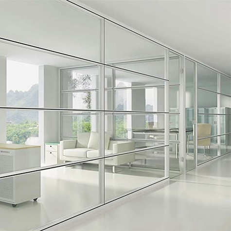 [Hot Item] Easy Installation Dismountable Clear Tempered Glass Partition  Wall Design