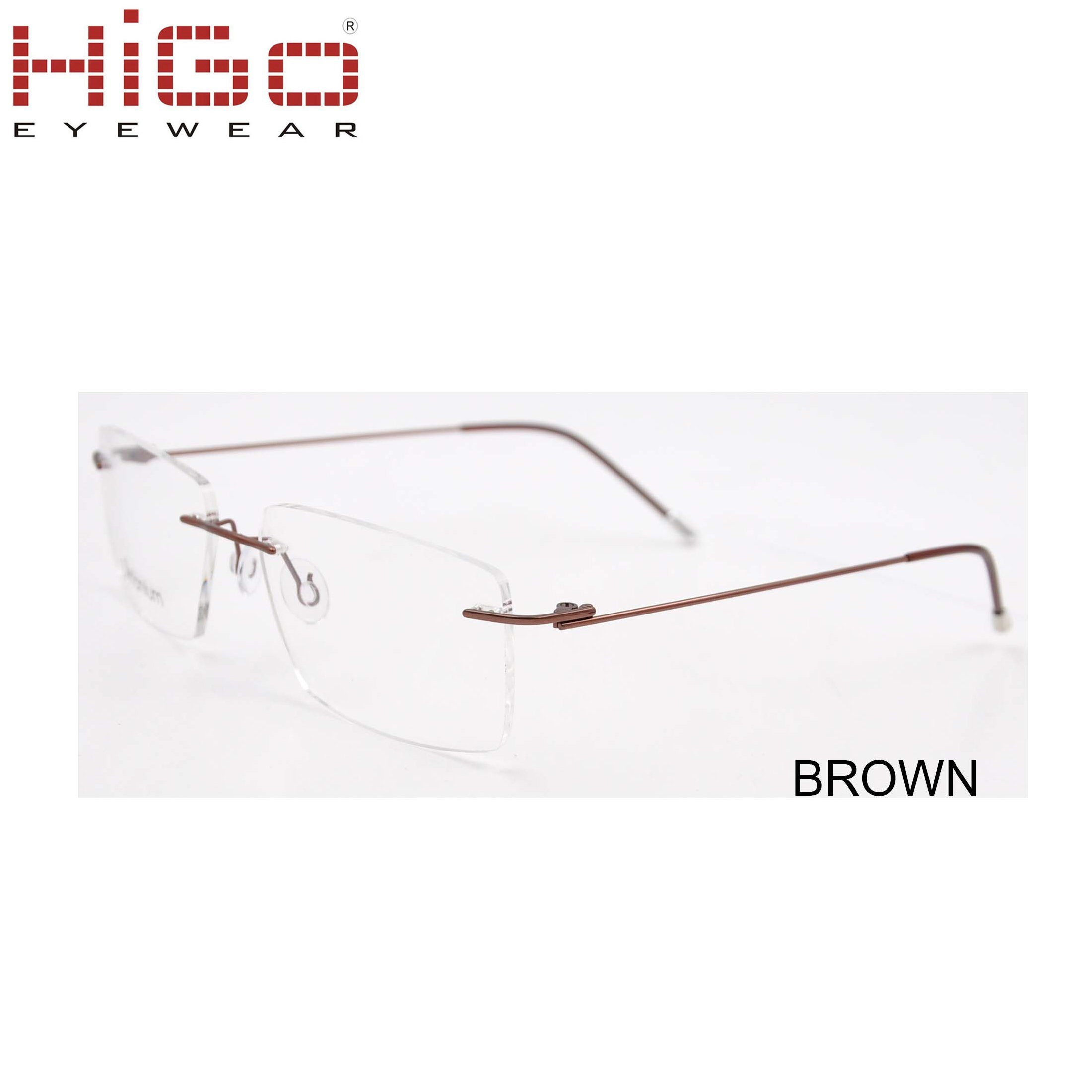 340cfa5ca61 New Brand Titanium Rimless Eyeglasses Frames Stainless Steel Square Glasses  Optical Frame for Male and Women