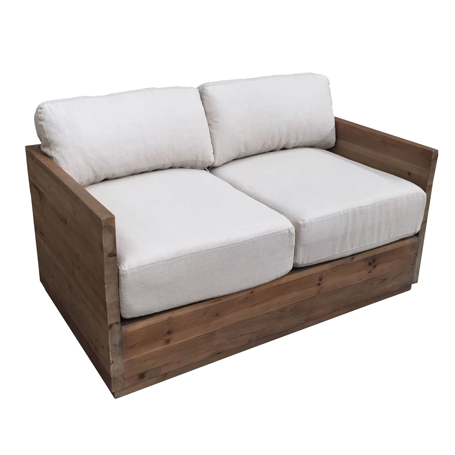 China Two Seater Wooden Frame Outdoor