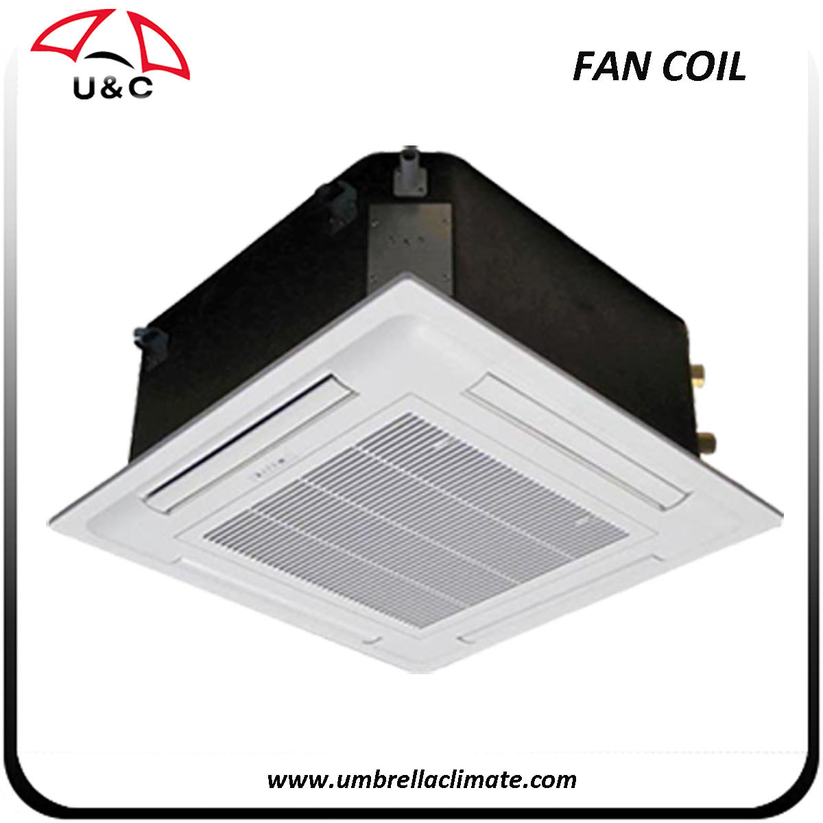 China Chiller Water Fan Coil Unit For Hvac Systems Cassette Ceiling