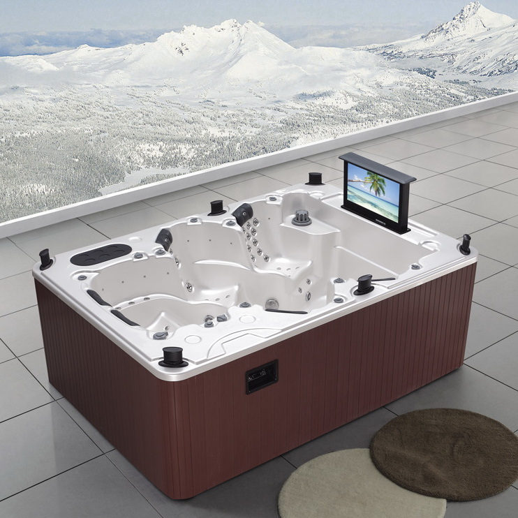 China Rectangle Luxury SPA Rectangle Hot Tub Home Whirlpool SPA ...