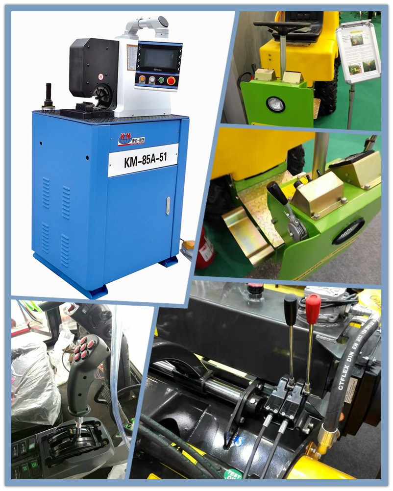 Side Open Hydraulic Hose Crimping Machine Crimping Car Air-Condition Hose pictures & photos