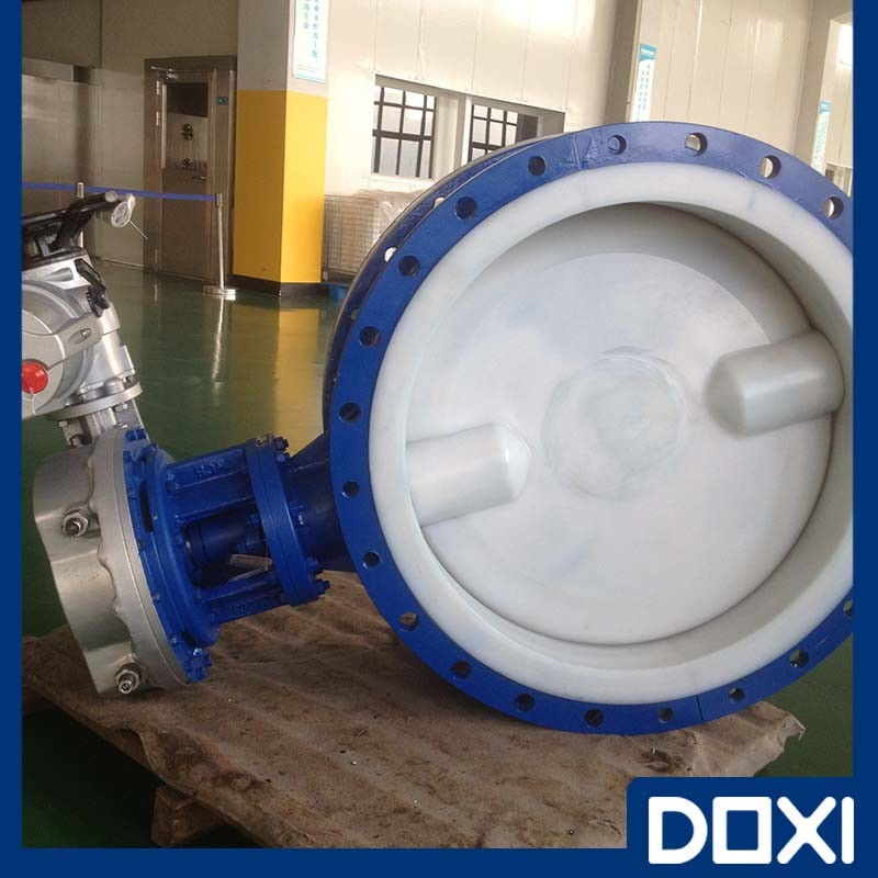 Actuator Operated Teflon PTFE Lined Butterfly Valve for Chemical Industry pictures & photos
