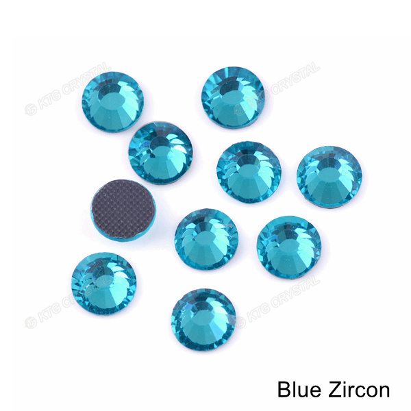 7e375d4f59 China Dazzling Blue Colors Flatback Hot Fix Crystals DMC Rhinestone ...