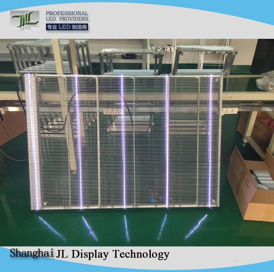 [Hot Item] Transparent Glass LED Display-P6 25mm Indoor Full Color LED Mesh  Screen