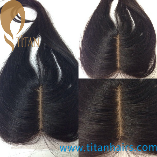 China 10inch Middle Part 4 Milky Way Human Hair Lace Closure