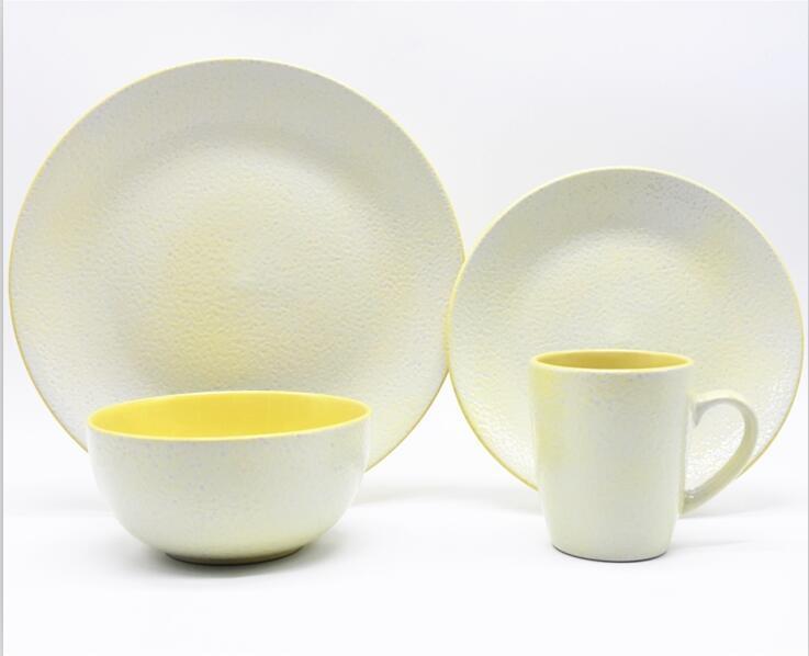 China Lovely Italy Design Yellow Color 12PCS Ceramic Stoneware Dinnerware Set - China Dinnerware Set 16PCS Ceramic Dinner Set & China Lovely Italy Design Yellow Color 12PCS Ceramic Stoneware ...