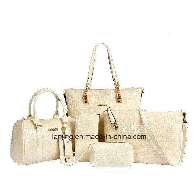 Factory Price Fashion 6 Piece Woman Bag Set Leather Ladies Bags Handbag 8470bb8f4936f