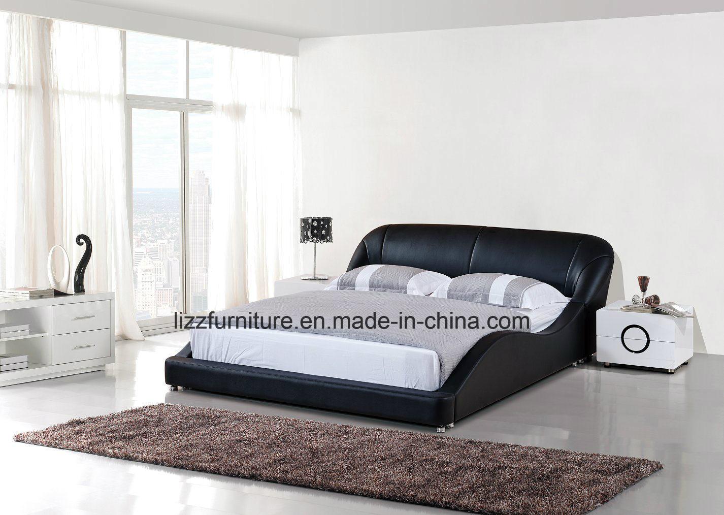 China Divan Bedroom Set Modern Italian Leather King Size Bed Frame China Soft Bed Bed Set
